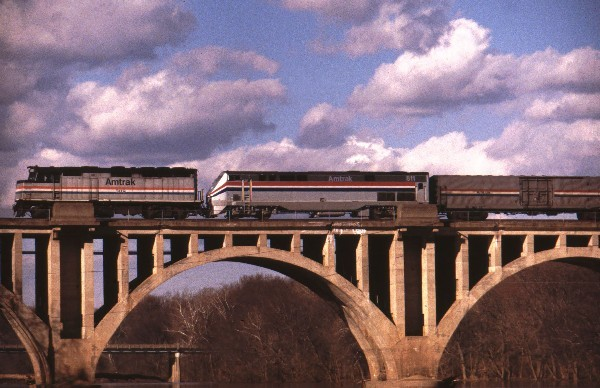 Amtrak crossing the Rappahannock